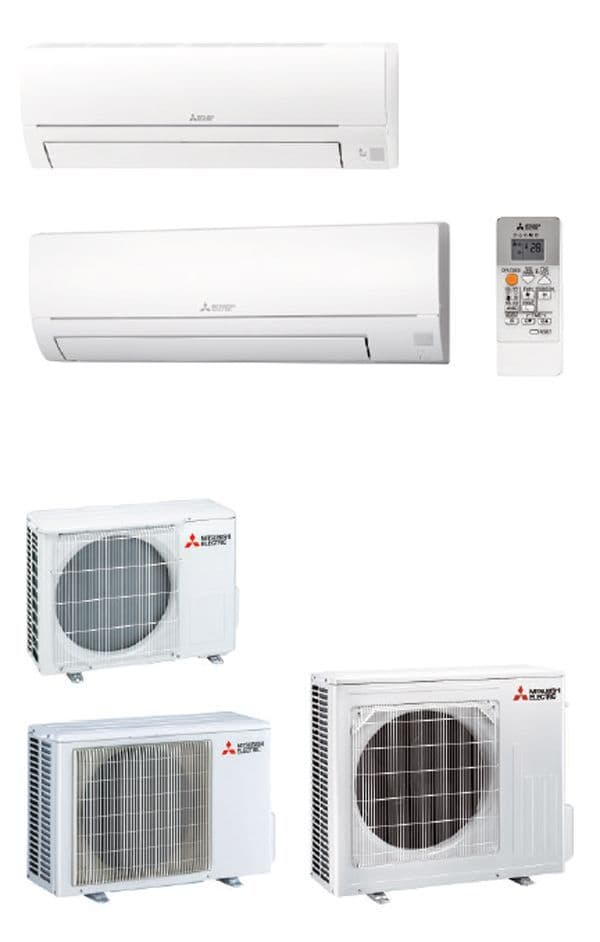 Mitsubishi Electric Air Conditioning MSZ-HR71VF Classic Wall Mounted 7Kw/24000Btu Install Kit